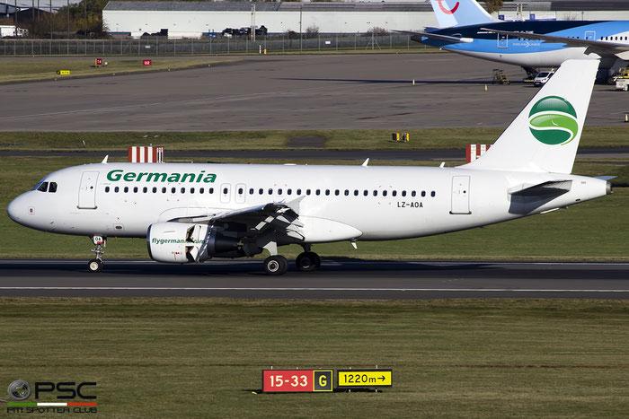 LZ-AOA A319-112 3139 Bulgarian Eagle Germania c/s @ Birmingham Airport 11.2017 © Piti Spotter Club Verona