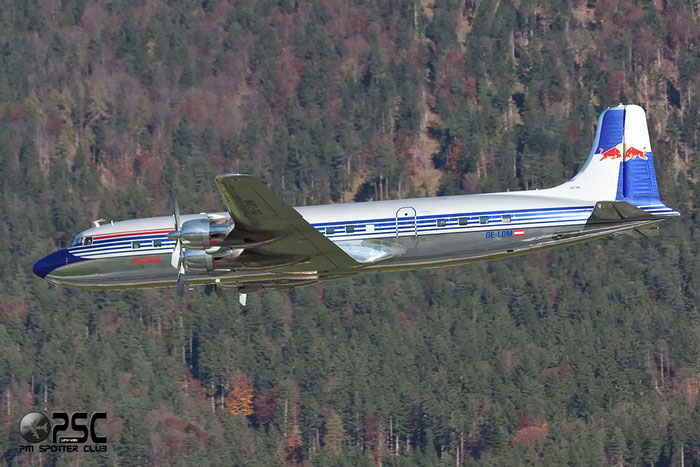 OE-LDM Red Bull - The Flying Bulls Douglas DC-6B @ Innsbruck Airport 26.10.2013 © Piti Spotter Club Verona