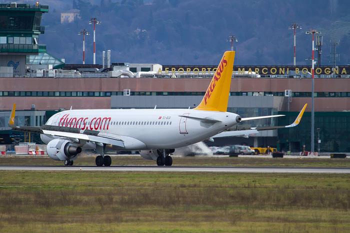 TC-DCG A320-214 6597 Pegasus Airlines @ Bologna Airport 12.02.2016 © Piti Spotter Club Verona