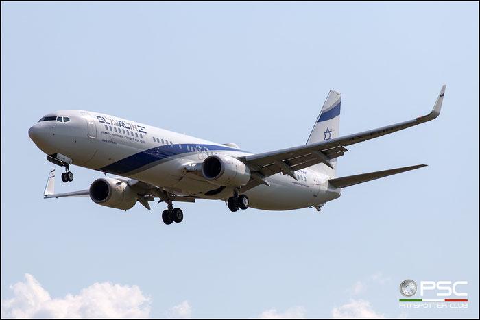 4X-EHH B737-958ER 41558/5791 El Al Israel Airlines @ Aeroporto di Verona 18.08.2018  © Piti Spotter Club Verona