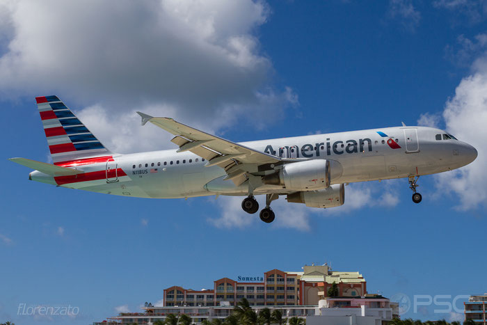 N118US A320-214 1264 American Airlines @ Sint Maarten Airport 09.04.2016 © Piti Spotter Club Verona