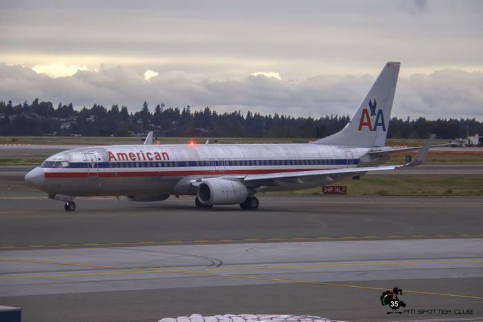 N923AN B737-823 29524/405 American Airlines @ Seattle Tacoma Airport 25.09.2015 © Piti Spotter Club Verona