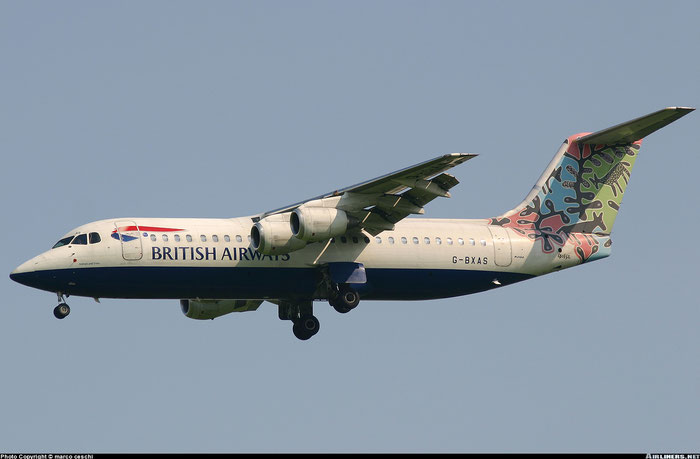 G-BXAS BAe146-RJ100 E3301 CityFlyer Express @ Aeroporto di Verona © Piti Spotter Club Verona