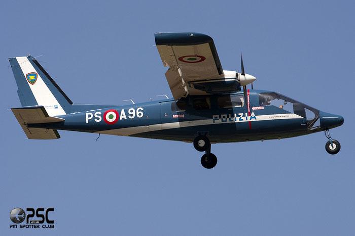 Italy - Police Partenavia P.68 Observer 2 - PS A96 @ Aeroporto di Verona © Piti Spotter Club Verona