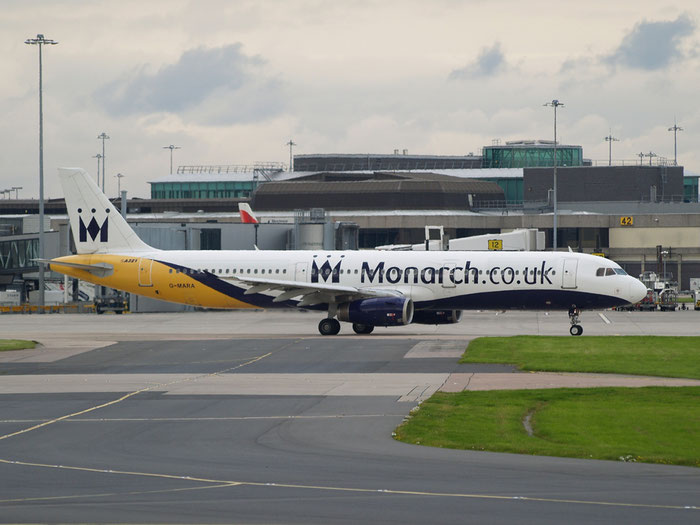 G-MARA A321-231 983 Monarch Airlines @ Manchester Airport 20.07.2012 © Piti Spotter Club Verona