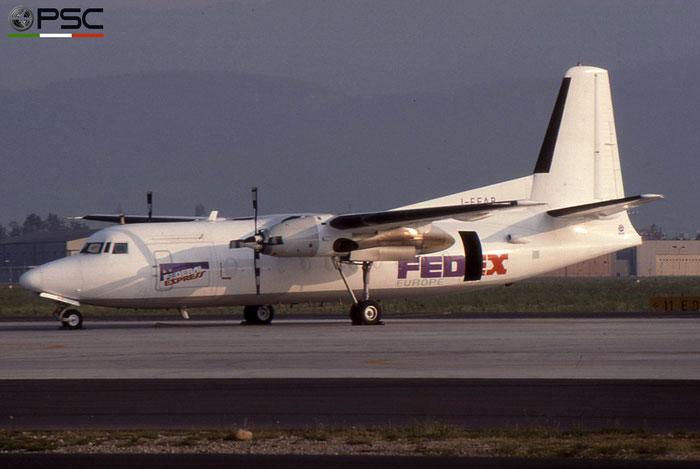 I-FEAB F27-600 10386 FedEx Express - Federal Express © 2018 courtesy of Marco Ceschi - Piti Spotter Club Verona