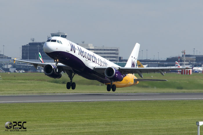 G-OZBP A321-231 1433 Monarch Airlines @ Manchester Airport 13.05.2014 © Piti Spotter Club Verona