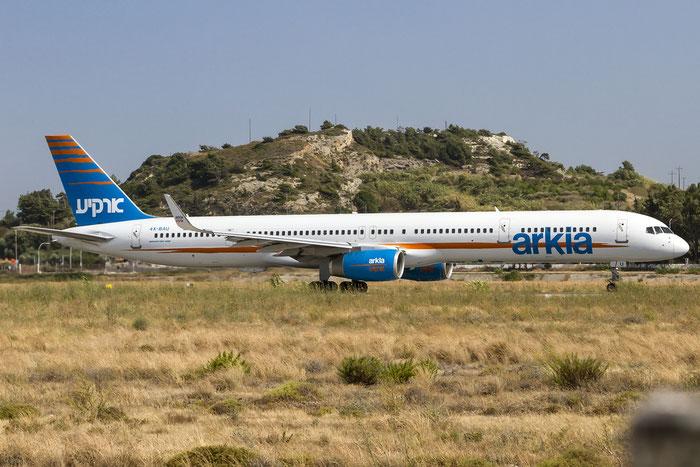 4X-BAU B757-3E7 30178/906 Arkia Israeli Airlines @ Rhodes Airport 06.07.2015 © Piti Spotter Club Verona