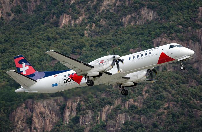HB-IZJ Saab 2000 2000-015 Darwin Airline @ Aeroporto di Bolzano © Piti Spotter Club Verona