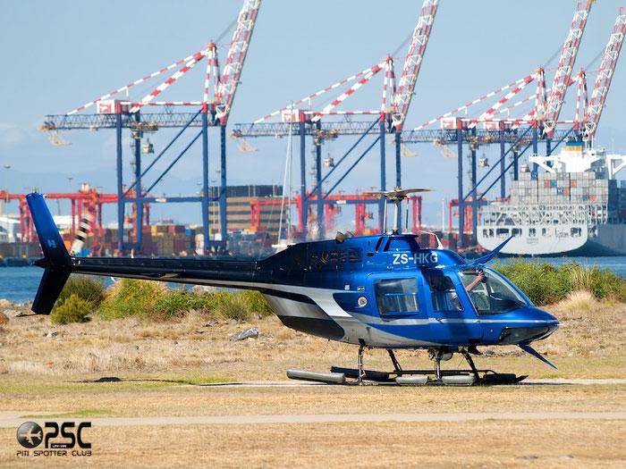ZS-HKG. Bell 206B JetRanger III. @ Cape Town downtown Heliport Airport 19.03.2014 © Piti Spotter Club Verona