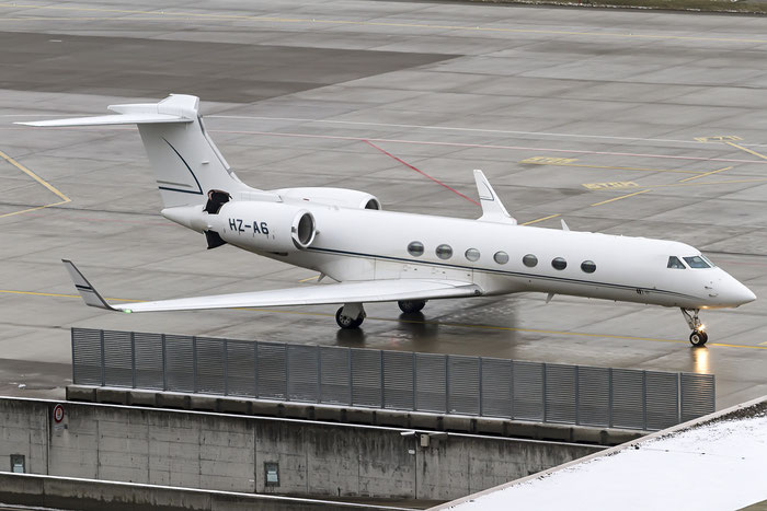 HZ-A6 G550 5038 Alpha Star Aviation Services @ Zurich Airport 19.01.2016 © Piti Spotter Club Verona