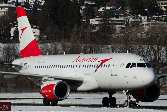 OE-LDC A319-112 2262 Austrian Airlines @ Innsbruck Airport 28.01.2017 © Piti Spotter Club Verona