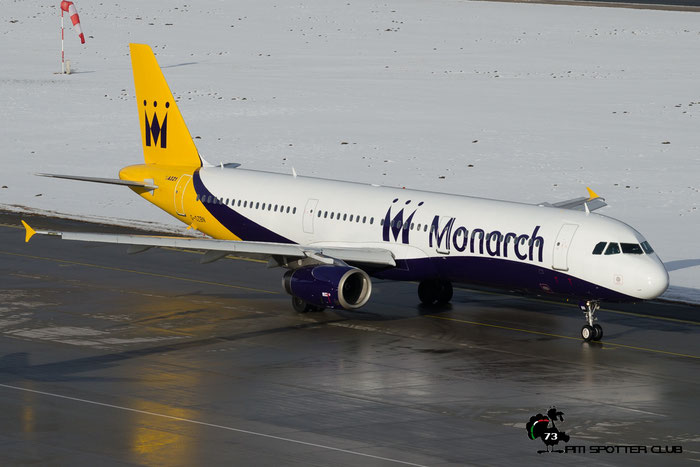 G-OZBN A321-231 1153 Monarch Airlines @ Innsbruck Airport 24.01.2016 © Piti Spotter Club Verona