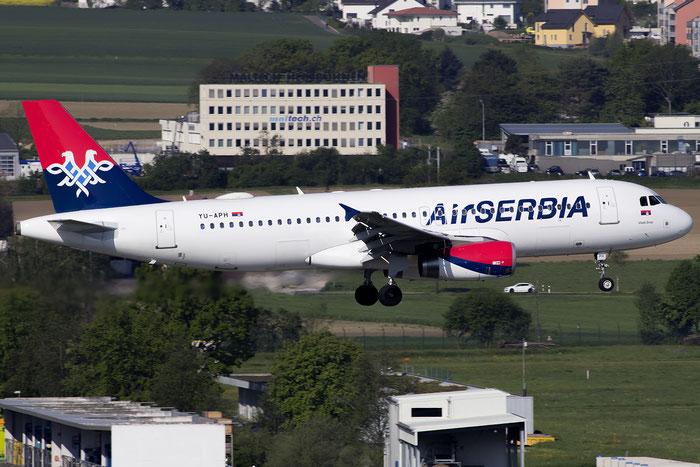 YU-APH A320-232 2645 Air Serbia @ Zurich Airport 05.2016 © Piti Spotter Club Verona