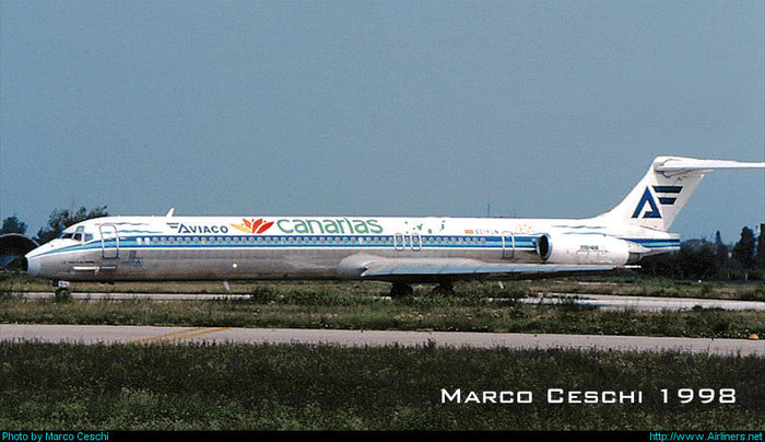 EC-FLN  MD-88  53303/1974  Aviaco - Aviación y Comercio  @ Aeroporto di Verona © Piti Spotter Club Verona