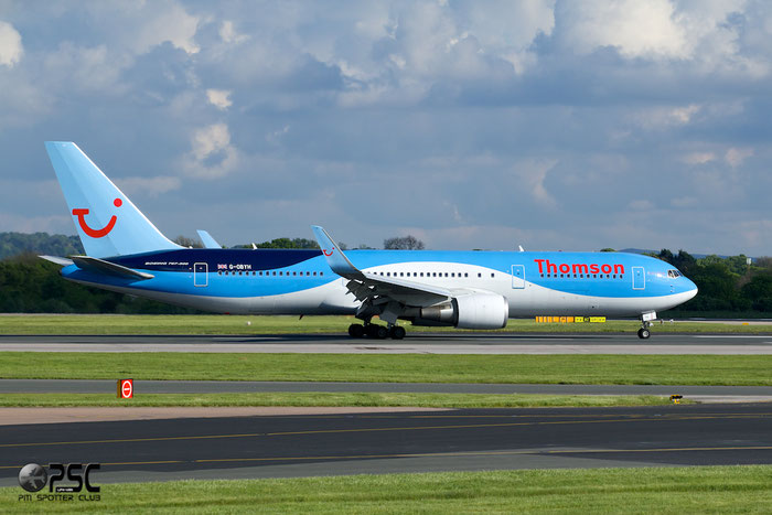G-OBYH B767-304ER 28883/737 Thomson Airways @ Manchester Airport 13.05.2014 © Piti Spotter Club Verona