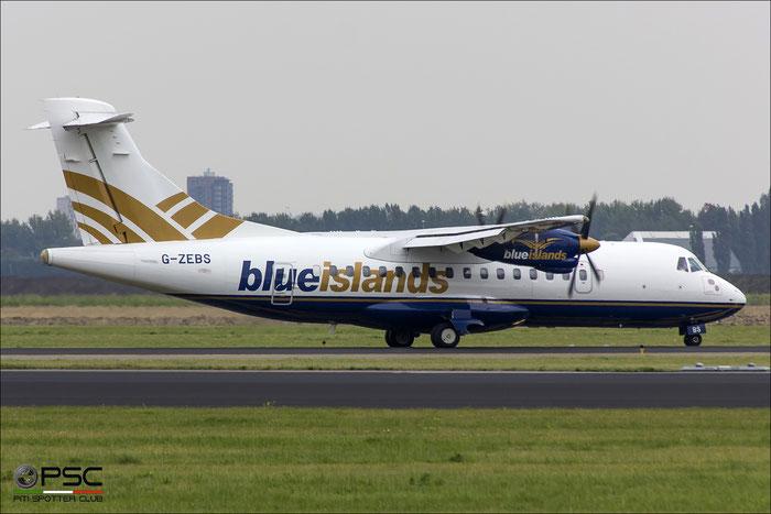 G-ZEBS ATR42-320 066 Blue Islands @ Amsterdam Airport 09.2013 © Piti Spotter Club Verona