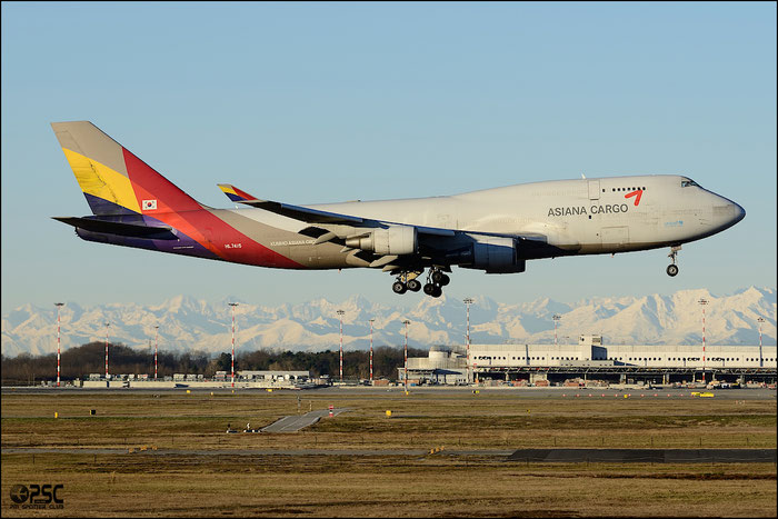 HL7415 B747-48EBDSF 25777/946 Asiana Airlines @ Milano Malpensa Airport 25.01.2014 © Piti Spotter Club Verona