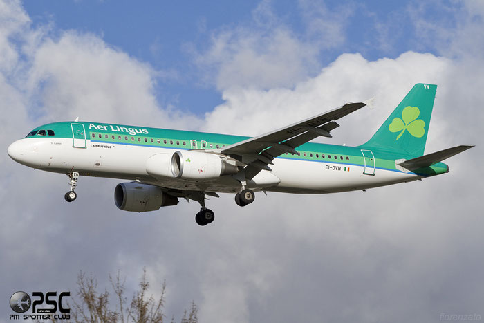 I-DVN A320-214 4715 Aer Lingus @ London Heathrow Airport 07.02.2014  © Piti Spotter Club Verona