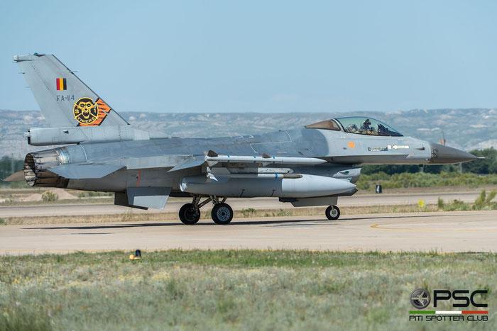 FA114   F-16AM  6H-114  10w © Piti Spotter Club Verona