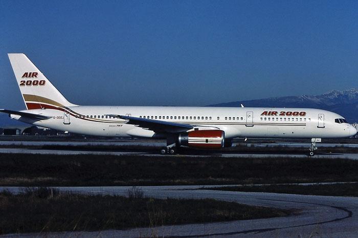 G-OOOJ B757-23A 24290/212 Air 2000 @ Aeroporto di Verona - © Piti Spotter Club Verona