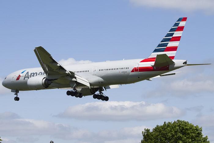 N786AN B777-223ER 30250/276 American Airlines @ London Heathrow Airport 13.05.2015 © Piti Spotter Club Verona