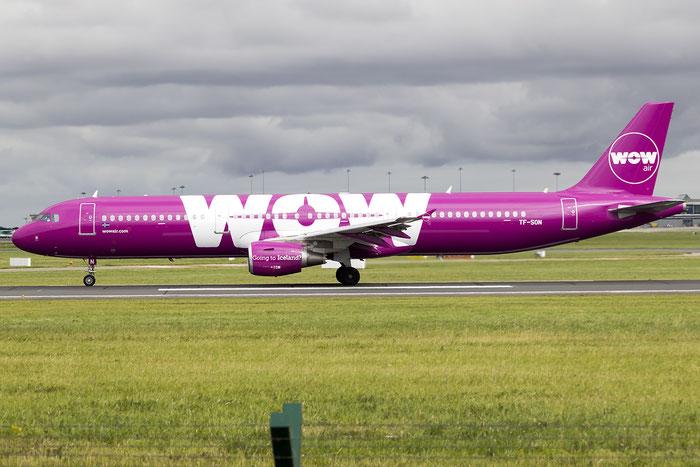 TF-SON A321-211 5733 WOW air @ Dublin Airport 14.08.2016 © Piti Spotter Club Verona