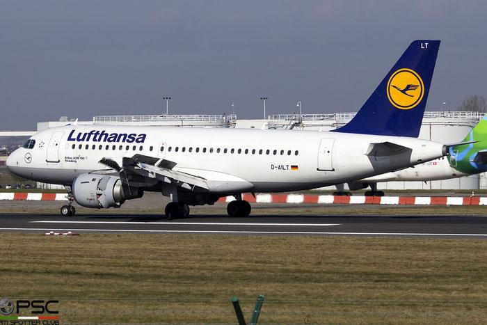 D-AILT A319-114 738 Lufthansa @ Bruxelles Airport 14.03.2018 © Piti Spotter Club Verona