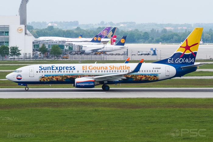 D-ASXP B737-8HX 29684/2539 SunExpress Germany @ Munich Airport 15.05.2016 © Piti Spotter Club Verona