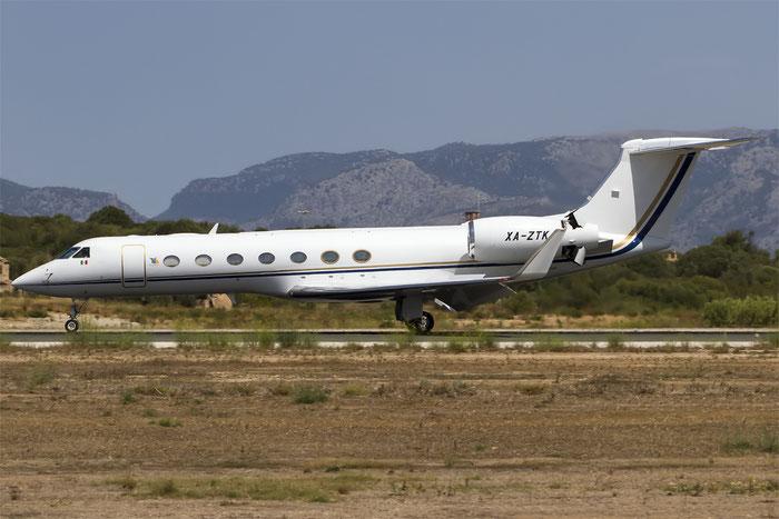 XA-ZTK (Global Jet) Gulfstream G550 @ Palma de Mallorca Airport 07.2014 © Piti Spotter Club Verona