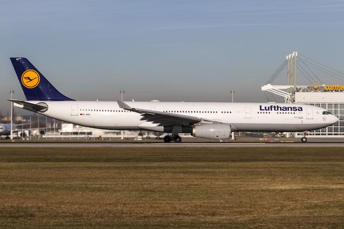 D-AIKE A330-343E 636 Lufthansa @ Munich Airport 28.12.2015 © Piti Spotter Club Verona