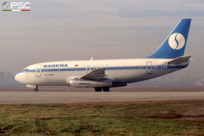 OO-SDN B737-229 21176/431 SABENA Belgian World Airlines © 2017 courtesy of Marco Ceschi - Piti Spotter Club Verona