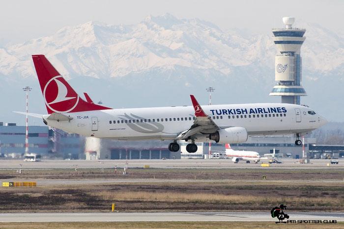 TC-JGK B737-8F2 34409/1924 Turkish Airlines - THY Türk Hava Yollari @ Milano Malpensa Airport 20.02.2016 © Piti Spotter Club Verona