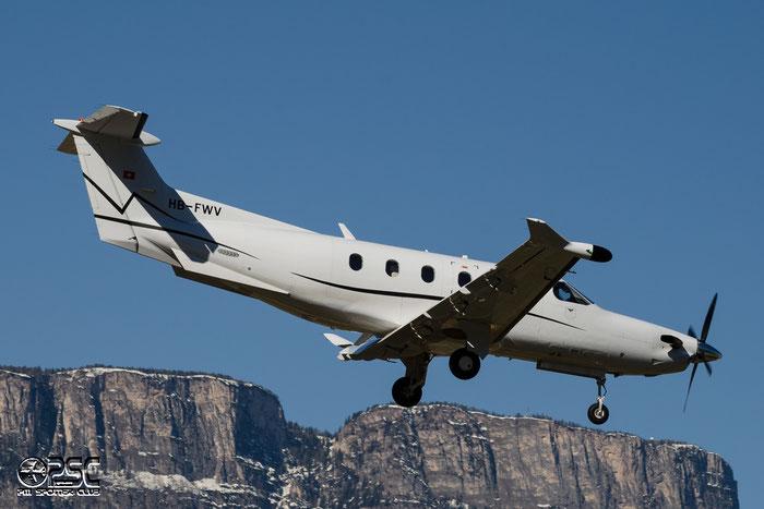 HB-FWV PC-12/47E 1416 Jetfly Aviation @ Aeroporto di Bolzano © Piti Spotter Club Verona