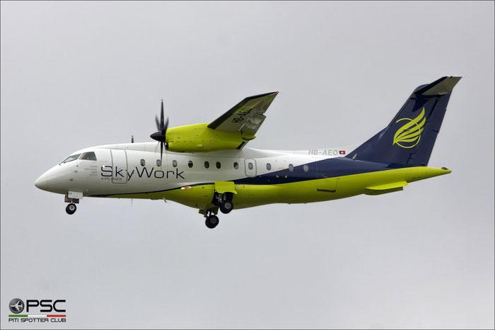 HB-AEO Do328-110 3061 SkyWork Airlines @ Amsterdam Airport 09.2013 © Piti Spotter Club Verona