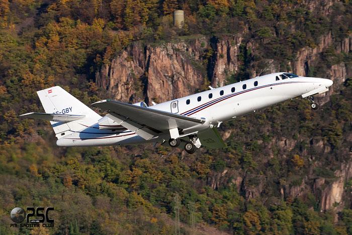 OE-GBY Ce680 680-0066 Common Sky - A & N Luftfahrt GmbH @ Aeroporto di Bolzano © Piti Spotter Club Verona