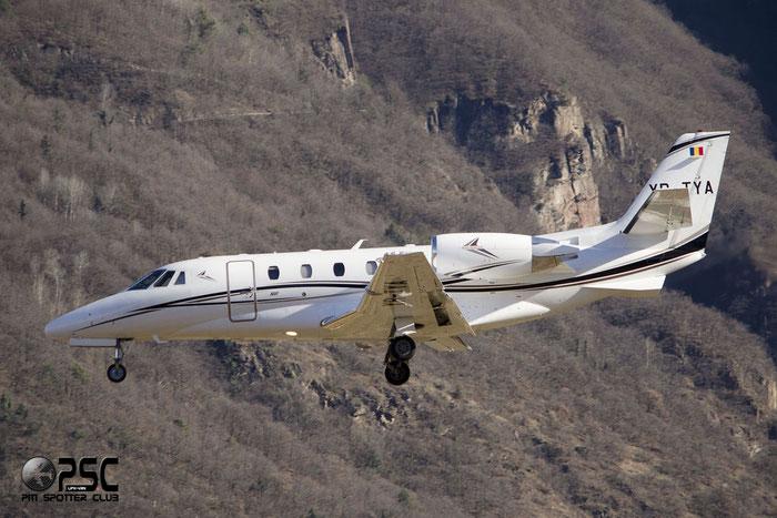 YR-TYA  Ce560XLS+  560-6075  Toyo Aviation @ Aeroporto di Trento © Piti Spotter Club Verona