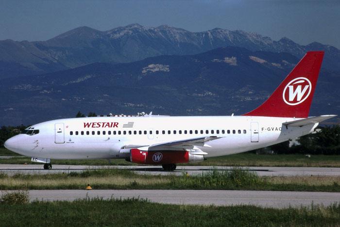 F-GVAC  B737-229  20907/351  Westair  @ Aeroporto di Verona © Piti Spotter Club Verona