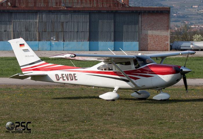 D-EVDE Cessna T182T Turbo Skyline C182 @ Aeroporto Verona Boscomantico © Piti Spotter Club Verona