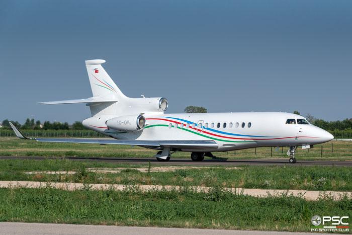 TC-OIL Falcon 7X 190 Palmali Air @ Aeroporto di Verona 08.2019  © Piti Spotter Club Verona