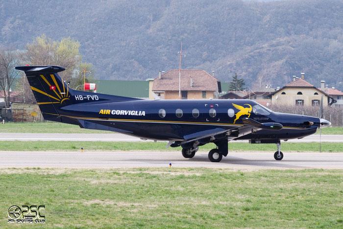 HB-FVD PC-12/47E 1072 Air-Corviglia @ Aeroporto di Bolzano © Piti Spotter Club Verona