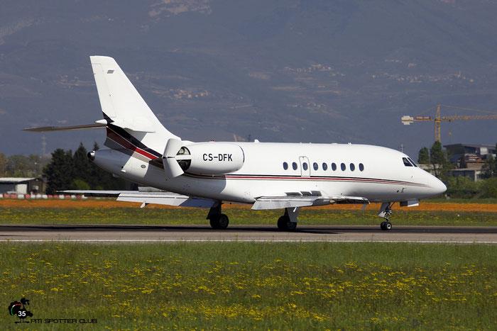 CS-DFK Falcon 2000EX-EASy 065 NetJets Europe @ Aeroporto di Verona 04.2019  © Piti Spotter Club Verona