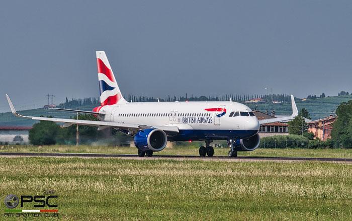 G-TTNJ A320-251N 8772 British Airways @ Aeroporto di Verona 08.2020  © Piti Spotter Club Verona