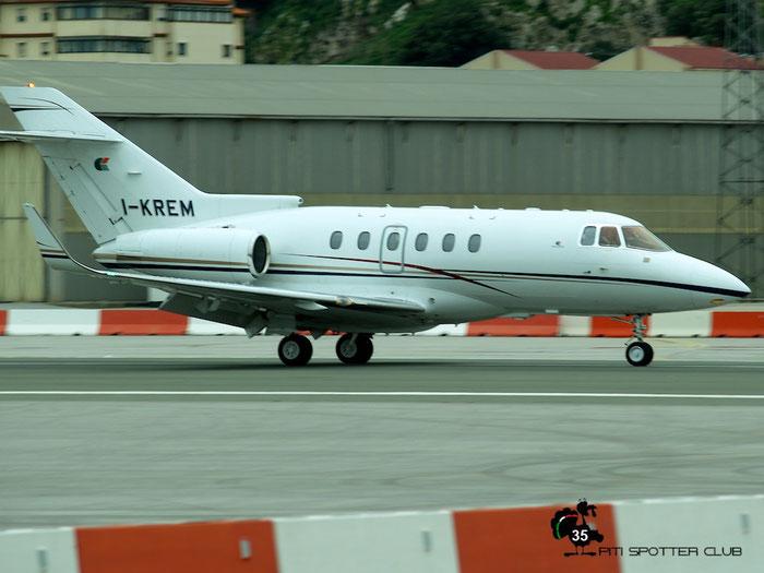 I-KREM BAe125-800XP2 258608 Interjet Srl @ Gibraltar Airport 24.01.2007 © Piti Spotter Club Verona