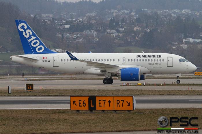 C-FFCO CS100 50006 Bombardier Inc. @ Zurich Airport 14.03.2016 © Piti Spotter Club Verona