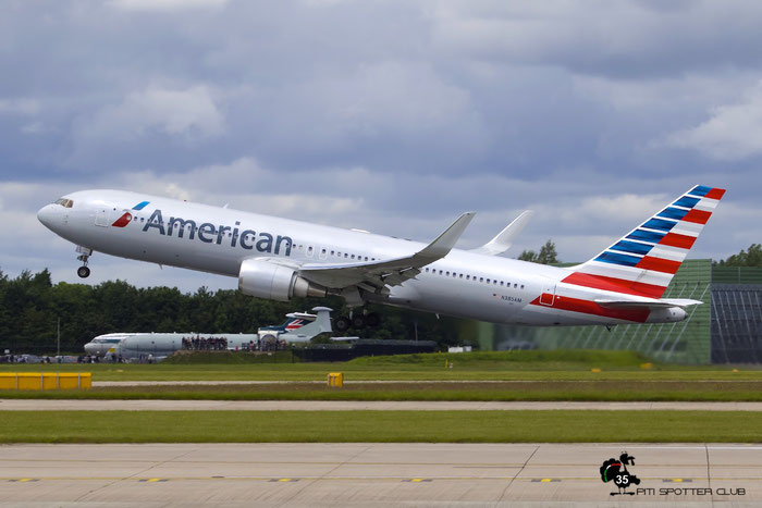 N385AM B767-323ER 27059/536 American Airlines @ Manchester Airport 21.06.2015 © Piti Spotter Club Verona