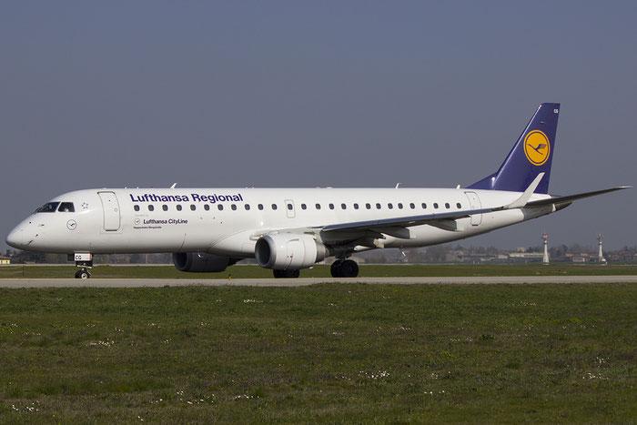 D-AECG ERJ190LR 19000368 Lufthansa CityLine @ Bologna Airport  14.03.2014 © Piti Spotter Club Verona