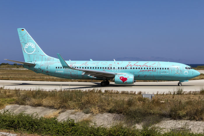 D-ASXO B737-8HX 29649/2515 SunExpress Germany @ Rhodes Airport 05.07.2015 © Piti Spotter Club Verona