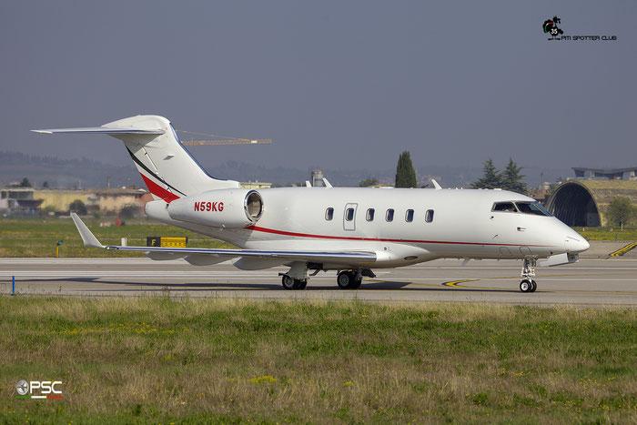 N59KG CL-300 20393 Kraus Gentle Corp. @ Aeroporto di Verona 09.04.2017  © Piti Spotter Club Verona