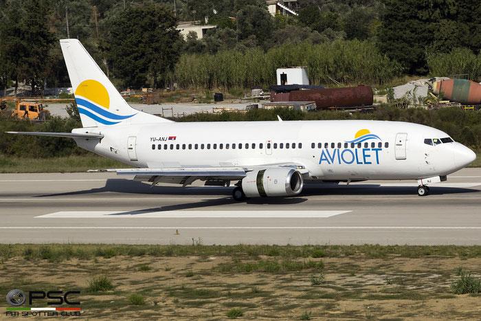YU-ANJ B737-3H9 23714/1305 Aviolet @ Skiathos Airport 07.2017 © Piti Spotter Club Verona